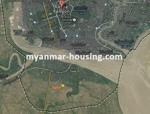 မြန်မာအိမ်ခြံမြေ -ခြံမြေနှင့် စက်ရုံဆက်စပ် ပိုင်ဆိုင်မှုများ property - No.1844 - N/A - location map of the land