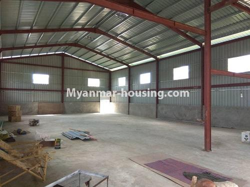 Myanmar real estate - land property - No.2516 - Wearhouse for rent in Hlaing Thar Yar Industrial Zone. - inside view of the warehouse