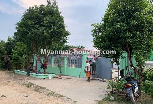 Myanmar real estate - land property - No.2539 - Land for rent in North Dagon! - front side view of the land