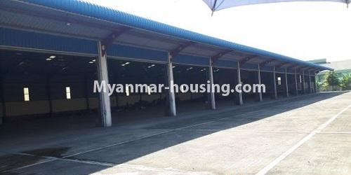 မြန်မာအိမ်ခြံမြေ -ခြံမြေနှင့် စက်ရုံဆက်စပ် ပိုင်ဆိုင်မှုများ property - No.2541 - အင်းစန်းဇုံ (၄)တွင် ဂုံဒေါင်ငှားရန်ရှိသည်။  - concreted land view