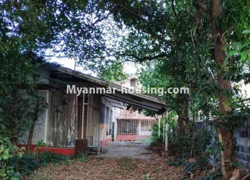 Myanmar real estate - land property - No.2542 - Land for sale in Golden Valley, Bahan Township! - house view on the land