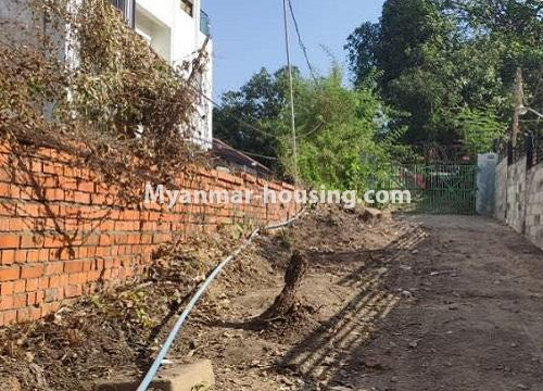 Myanmar real estate - land property - No.2542 - Land for sale in Golden Valley, Bahan Township! - entrance view