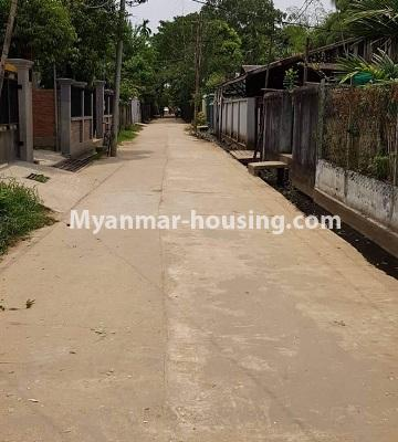 Myanmar real estate - land property - No.2543 - Land with small house in Insein! - street view
