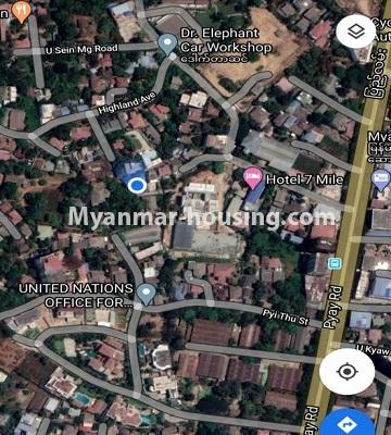 Myanmar real estate - land property - No.2544 - Paternal Land for sale in 7 Mile, Mayangone! - map