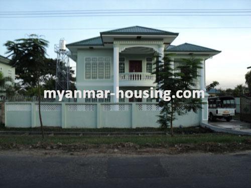 မြန်မာအိမ်ခြံမြေ - ငှားရန် property - No.1110 - N/AExterior view of the landed house.