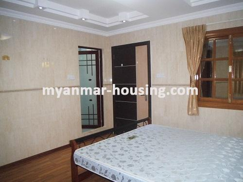 Myanmar real estate - for rent property - No.1111 - Quiet and residential  condo near Kandawgyie Lake - Don't miss the chance! - View of the master bed room.