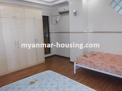 Myanmar real estate - for rent property - No.1111 - Quiet and residential  condo near Kandawgyie Lake - Don't miss the chance! - View of single bed room