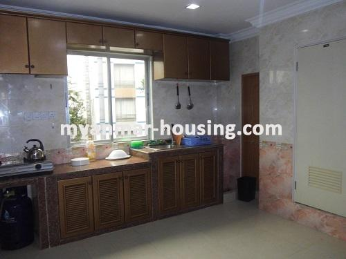 Myanmar real estate - for rent property - No.1111 - Quiet and residential  condo near Kandawgyie Lake - Don't miss the chance! - View of the kitchen