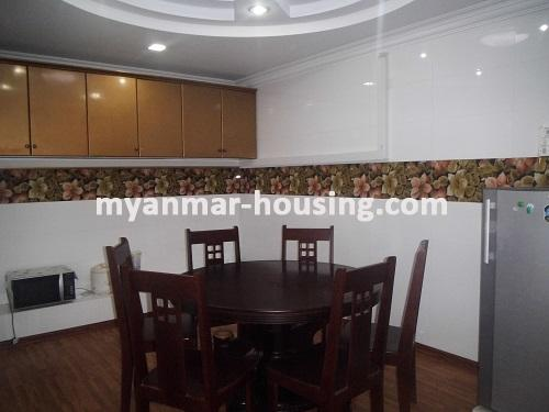 Myanmar real estate - for rent property - No.1111 - Quiet and residential  condo near Kandawgyie Lake - Don't miss the chance! - View of dining room