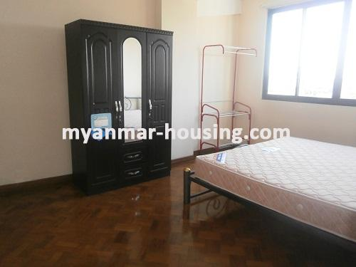 Myanmar real estate - for rent property - No.2176 - Furnished Room Suitable for Single Person /Couple /Small Family in Diamond Condo! - View of the bed room.