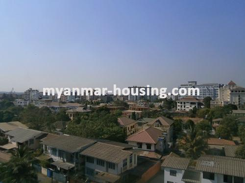 Myanmar real estate - for rent property - No.2176 - Furnished Room Suitable for Single Person /Couple /Small Family in Diamond Condo! - View from your room