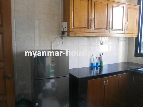 Myanmar real estate - for rent property - No.2176 - Furnished Room Suitable for Single Person /Couple /Small Family in Diamond Condo! - View of the kitchen