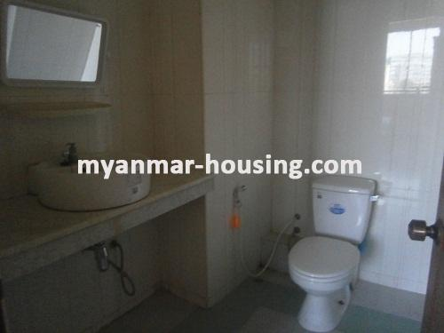Myanmar real estate - for rent property - No.2176 - Furnished Room Suitable for Single Person /Couple /Small Family in Diamond Condo! - View of the Bath Room