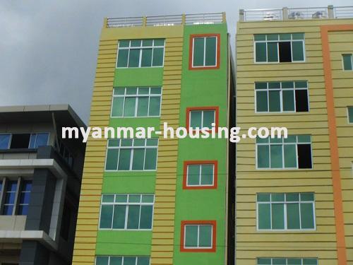 မြန်မာအိမ်ခြံမြေ - ငှားရန် property - No.2373 - ဒေါပုံမြို့နယ်တွင် လုံးချင်းငှားရန်ရှိသည်။Front view of the building.