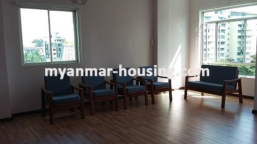 Myanmar real estate - for rent property - No.2635 - Good news for those who want to live near Dagon Centre II, Myaynigone, Sanchaung! - view of the living room