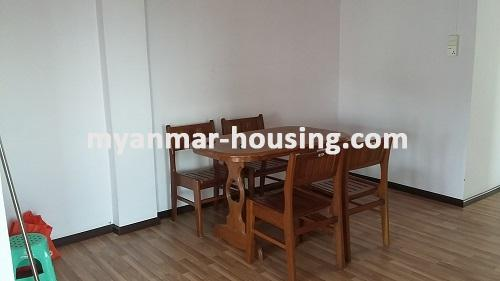 Myanmar real estate - for rent property - No.2635 - Good news for those who want to live near Dagon Centre II, Myaynigone, Sanchaung! - view of the dinning room