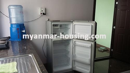 Myanmar real estate - for rent property - No.2635 - Good news for those who want to live near Dagon Centre II, Myaynigone, Sanchaung! - view of the kitchen