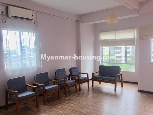Myanmar real estate - for rent property - No.2635 - Good news for those who want to live near Dagon Centre II, Myaynigone, Sanchaung! - View of the living room.