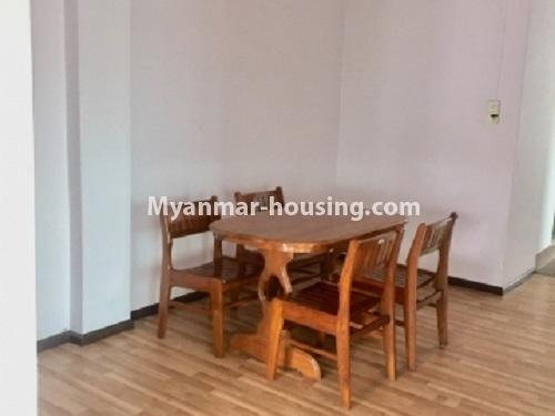 Myanmar real estate - for rent property - No.2635 - Good news for those who want to live near Dagon Centre II, Myaynigone, Sanchaung! - View of the dinning room.