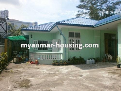 မြန်မာအိမ်ခြံမြေ - ငှားရန် property - No.2655 - N/Athe front view of building