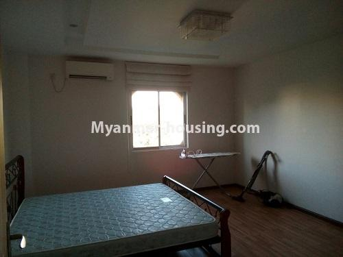 Myanmar real estate - for rent property - No.3109 - Available good condominium for rent near Chatrium Hotel. - View of the bed room.