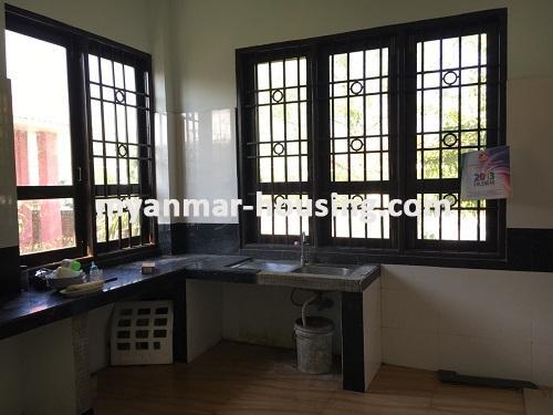 မြန်မာအိမ်ခြံမြေ - ငှားရန် property - No.3224 - နေပြည်တော်တွင် တစ်ထပ်တိုက်လုံးချင်းတစ်လုံးဌားရန်ရှိသည်။view of kitchen room.