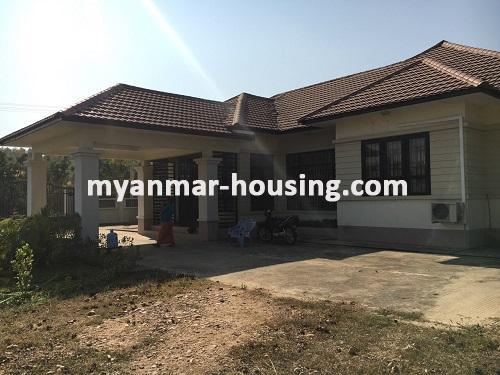 မြန်မာအိမ်ခြံမြေ - ငှားရန် property - No.3224 - နေပြည်တော်တွင် တစ်ထပ်တိုက်လုံးချင်းတစ်လုံးဌားရန်ရှိသည်။view of the building
