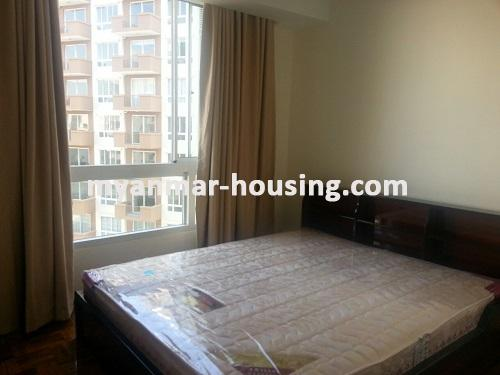 Myanmar real estate - for rent property - No.3360 - Modernize decorated condo room for rent in Star City.  - View of the Bed room