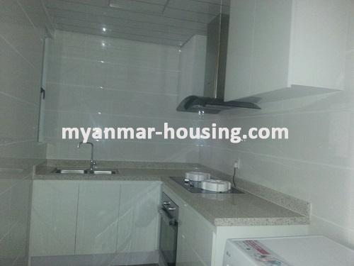 Myanmar real estate - for rent property - No.3360 - Modernize decorated condo room for rent in Star City.  - View of the Kitchen room