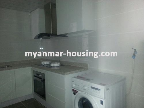 Myanmar real estate - for rent property - No.3360 - Modernize decorated condo room for rent in Star City.  - View of Kitchen room