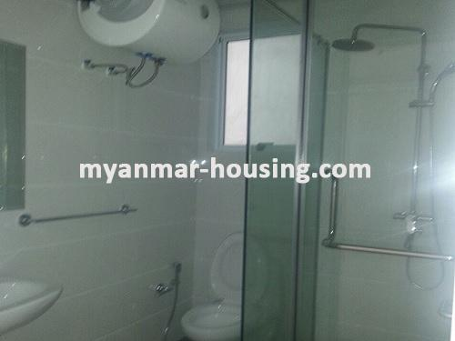 Myanmar real estate - for rent property - No.3360 - Modernize decorated condo room for rent in Star City.  - View of the Toilet and Bathroom