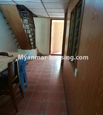 မြန်မာအိမ်ခြံမြေ - ငှားရန် property - No.3429 - ဗဟန်းတွင် ပရိဘောဂပါသော တိုက်ခန်းငှားရန်ရှိသည်။corridor view