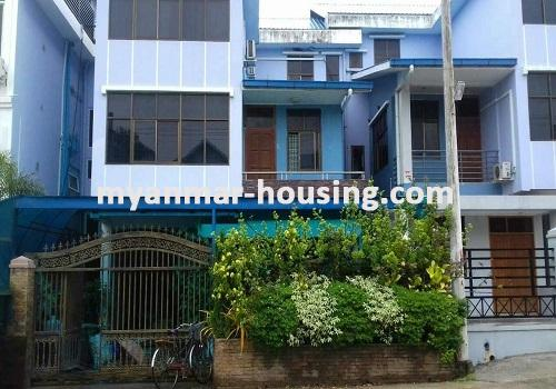 Myanmar real estate - for rent property - No.3491 - Two Storey landed House for rent in Insein Township. - View of the Building