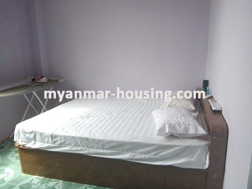 Myanmar real estate - for rent property - No.3495 - A good apartment for rent in Bahan Township. - View of the Bed room