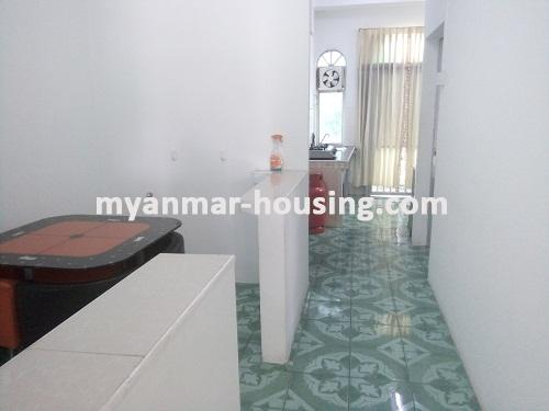 Myanmar real estate - for rent property - No.3495 - A good apartment for rent in Bahan Township. - View of the Dinning room