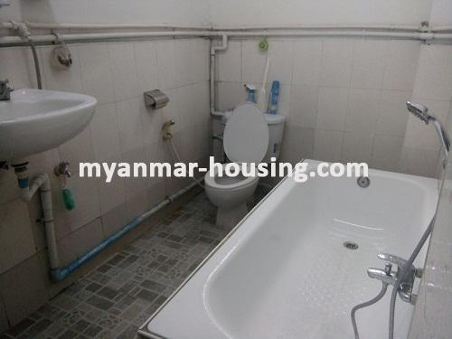 Myanmar real estate - for rent property - No.3495 - A good apartment for rent in Bahan Township. - View of Bath room and Toilet