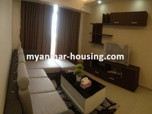 Myanmar real estate - for rent property - No.3506 - Luxurious Condominium room with full standard decoration and furniture for rent in Star City, Thanlyin! - view of the Living room