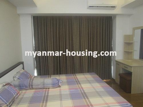 Myanmar real estate - for rent property - No.3506 - Luxurious Condominium room with full standard decoration and furniture for rent in Star City, Thanlyin! - View of the bed room
