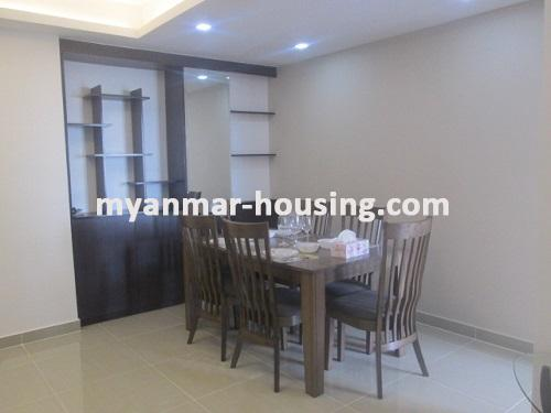 Myanmar real estate - for rent property - No.3506 - Luxurious Condominium room with full standard decoration and furniture for rent in Star City, Thanlyin! - View  of the dinning room