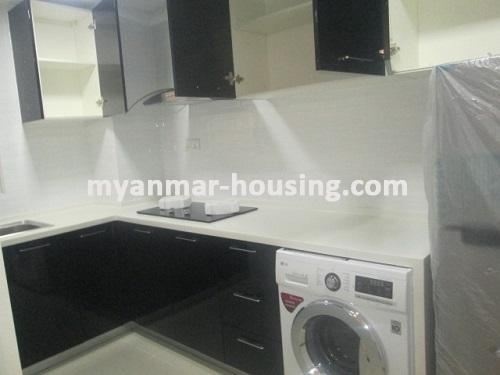 Myanmar real estate - for rent property - No.3506 - Luxurious Condominium room with full standard decoration and furniture for rent in Star City, Thanlyin! - View of the Kitchen room