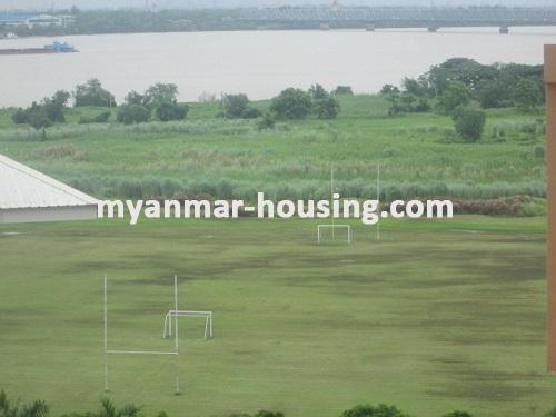 Myanmar real estate - for rent property - No.3506 - Luxurious Condominium room with full standard decoration and furniture for rent in Star City, Thanlyin! - playground view