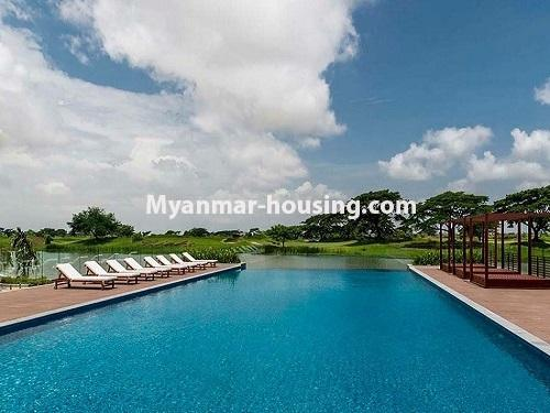 Myanmar real estate - for rent property - No.3506 - Luxurious Condominium room with full standard decoration and furniture for rent in Star City, Thanlyin! - swimming pool view
