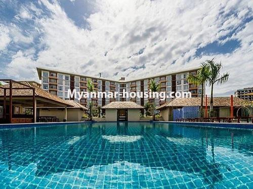 Myanmar real estate - for rent property - No.3506 - Luxurious Condominium room with full standard decoration and furniture for rent in Star City, Thanlyin! - another view of swimming pool
