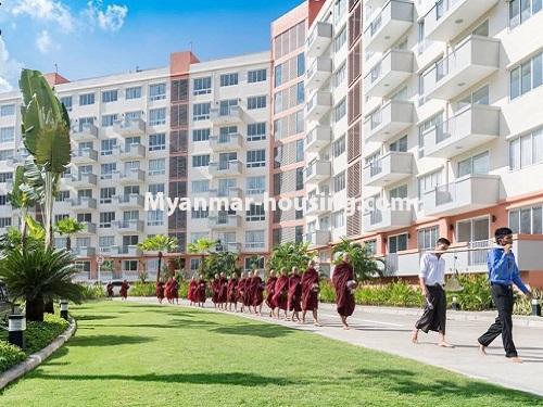 Myanmar real estate - for rent property - No.3506 - Luxurious Condominium room with full standard decoration and furniture for rent in Star City, Thanlyin! - B zone building view