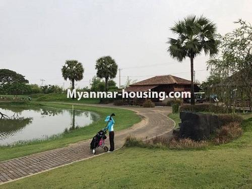 Myanmar real estate - for rent property - No.3506 - Luxurious Condominium room with full standard decoration and furniture for rent in Star City, Thanlyin! - golf course view