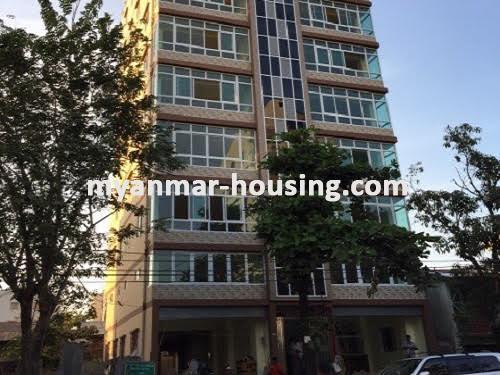 မြန်မာအိမ်ခြံမြေ - ငှားရန် property - No.3518 - သာကေတတွင် လုပ်ငန်းလုပ်ရန်အတွက် မြေညီထပ်ငှါးရန်ရှိသည်။building view