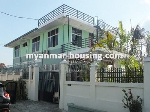 မြန်မာအိမ်ခြံမြေ - ငှားရန် property - No.3663 - အင်းစိန်အောင်ဇေယျတံတားအနီးတွင် လုံးချင်းတစ်လုံးငှါးရန်ရှိသည်။house view