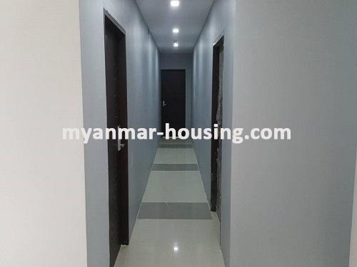 မြန်မာအိမ်ခြံမြေ - ငှားရန် property - No.3731 - မရမ်းကုန်းတွင် လုပ်ငန်းလုပ်ရန်အလွန်ကောင်းမွန််သော လုံးချင်းငှားရန်ရှိသည်။hallway to rooms