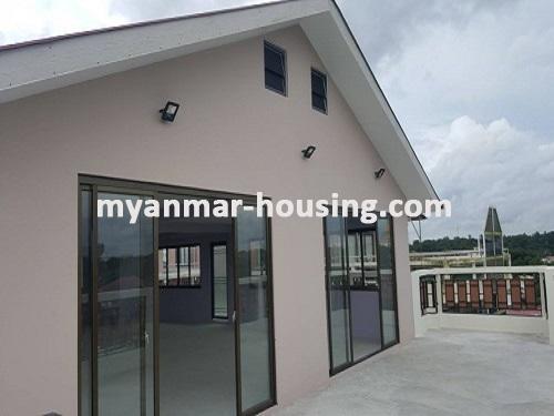 မြန်မာအိမ်ခြံမြေ - ငှားရန် property - No.3731 - မရမ်းကုန်းတွင် လုပ်ငန်းလုပ်ရန်အလွန်ကောင်းမွန််သော လုံးချင်းငှားရန်ရှိသည်။top floor view