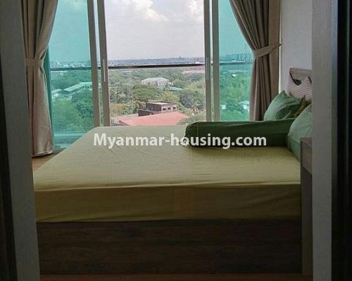 Myanmar real estate - for rent property - No.3920 - Decorated condo room for rent in G.E.M.S Hlaing! - bedroom 1 view